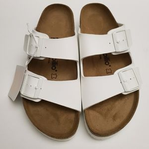 Birkenstock Papillio White Platform Sandals